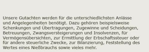 Immobilienbewertung für  Kümbdchen - Dilligsmühle, Keidelheim und Külz (Hunsrück)